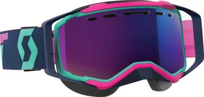 Scott Prospect Adult Snowmobile Goggles - Teal/Pink/Chrome/One Size by SCOTT
