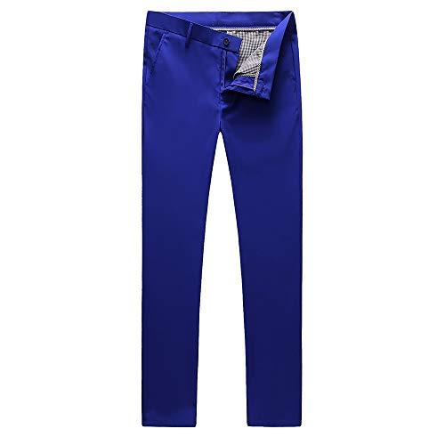UNINUKOO Mens Tuxedo Slim Fit Business Wedding Suit Pants US Size 32 Royal Blue