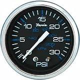 Faria 13712 Chesapeake Water Pressure Gauge Kit 30 PSI-Black SS, 2'