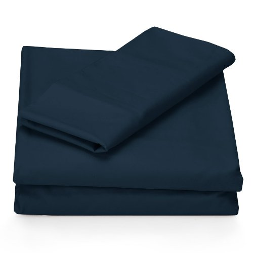 Perry Ellis Sheet Set, Microfiber, Midnight, Queen