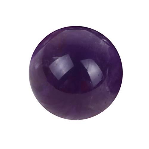 - ❤Lemoning❤ Natural Amethyst Quartz Sphere Big Pretty Crystal Ball Healing Purple Stone 1Pc