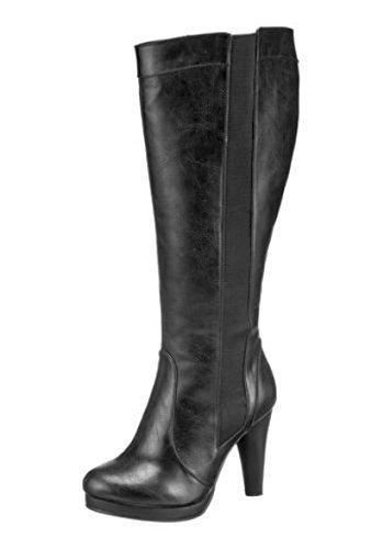 Andrea Conti Stiefel - Náuticos de material sintético Mujer negro - negro