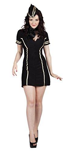 Carnevale con Faschingsfete Costume dettagli colore XL L XL S Nero Short L hostess da Fete Donna nero nero M gd0d1nqR