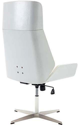 CLP Chaise de Visiteur Breda en Similicuir avec Coque en Bois I Chaise De Conférence avec Dossier Assise Rembourrés I…