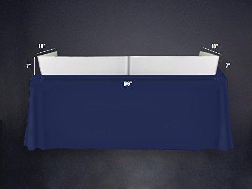 New Tabletop DJ Facade by Dragon Frontboards: Short White Acrylic 6' Tabletop Facade