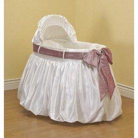 BabyDoll A Gift for You Bassinet Liner/Skirt and Hood, Pink Sash, 13 ''x 29''