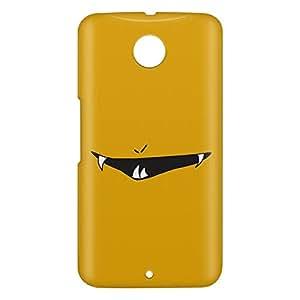 Loud Universe Motorola Nexus 6 3D Wrap Around Smiley Print Cover - Yellow