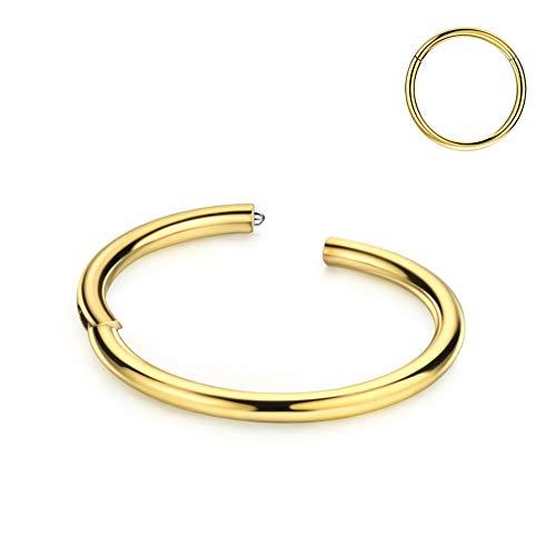 Nose Rings 16 Gauge Nose Ring Hoop Earrings 14k Gold Septum Ring