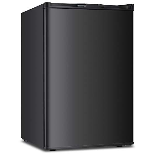 3.0 CU.FT Upright Freezer Convertible Deep Capacity Frost Free Quick Freeze Function Refrigerator Low Noise Compact Refrigerators Black(Black-3.0cu.ft)
