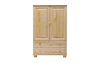 Armario perchero Madera Maciza, color: natural 139 x 90 x 42 ...