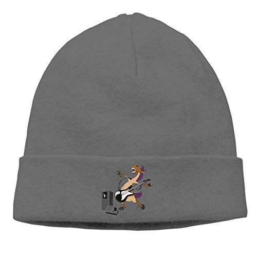 Skully Beanie Wool Knitted Cap Pony Horse Warm Hat Daily Slouchy Hats Crease Knit Beanies Skull Cap Deep Heather (Watch Lego Skull)