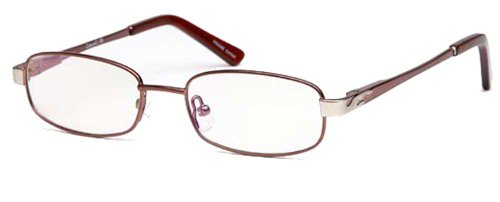 Childrens Oval Glasses Frames Brown Kids Prescription Eyeglasses 46-16-130