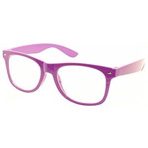 FancyG Classic Retro Fashion Style Clear Lenses Glasses Frame Eyewear - Purple