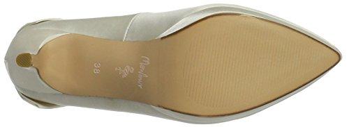 MENBUR Amina, Zapatos de Tacón para Mujer Blanco (Ivory)