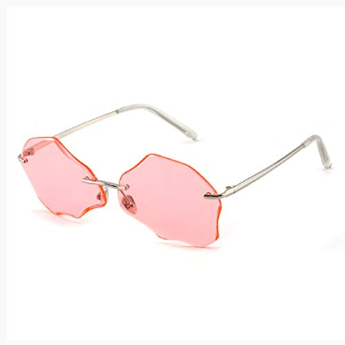 Vintage Small Sunglasses, BOLLH Oval Slender Metal Frame Candy Colors Fashion Retro Sunglasses