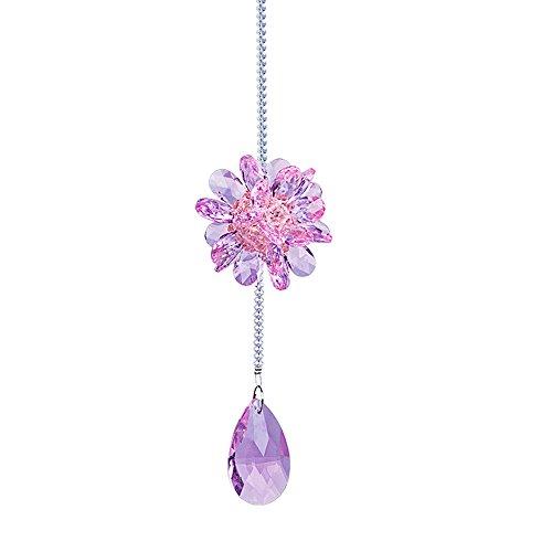 Pink Crystal Pendant Light - 9