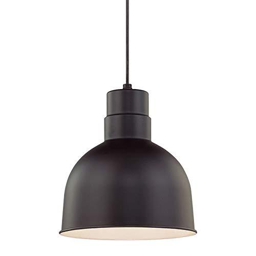 Millennium RDBC10-SB One Light Down Pendant with Black Finish