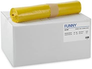 Funny AG-883 - Pack de 250 bolsas de basura, 120 l, color ...