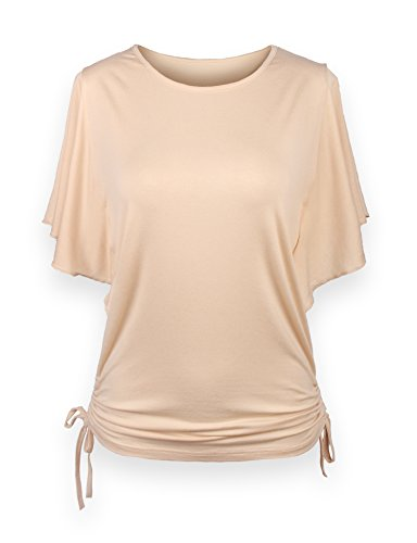 ReliBeauty-Womens-Flutter-Sleeve-Solid-Tops