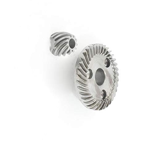 Aexit Power Tool Electrical Angle Grinder Helical Teeth Bevel Gear Set for Timers makkita 9523NB ()