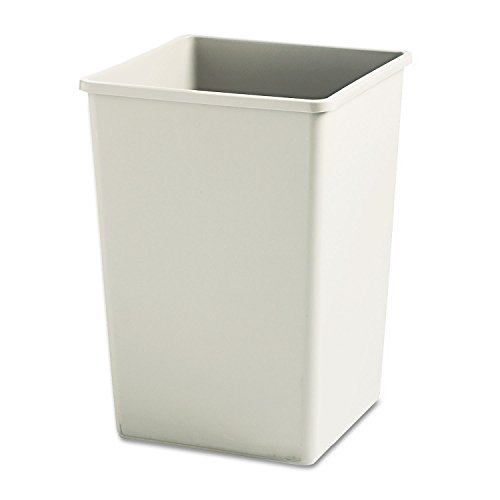 Rubbermaid Commercial 395800BG Plaza Waste Container Rigid Liner, Square, Plastic, 35gal, (Square Bin Liners)