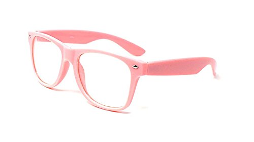 Book Day World Costume Toddlers Ideas For (Pink Adult Costume Glasses Classic Style Glasses Multi Colour Clear Lens Classic Frames Perfect for Costumes Parties Costume Cos Play Glasses Gift Nerds Glasses Men Nerd Glasses)