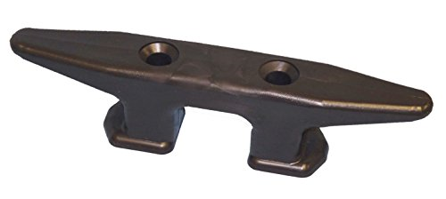 - Dock Edge Open Base Dock Cleat, Black, 8-Inch