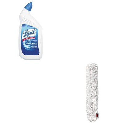 KITRAC74278CTRCPQ853WHI - Value Kit - RUBBERMAID COMMERCIAL PROD. HYGEN Quick-Connect Microfiber Dusting Wand Sleeve (RCPQ853WHI) and Professional LYSOL Brand Disinfectant Toilet Bowl Cleaner (RAC74278CT)