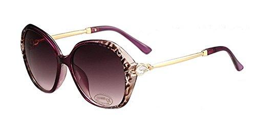 diarias o mujer de con para espejo UV de de 2 playa sol protección gafas de playa colores de Gafas sol cristales para diamante 6 Wicemoon gafas vacaciones qItw8xH5RH