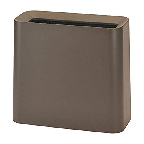 Designer Rectangular Bin - Ideaco TUBELOR Hi-Grande Designer Rectangular Waste Bin, Conceals Any Plastic Bag 3.0 Gal, Matte Brown