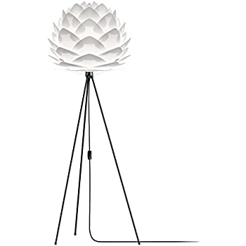 IKEA - REGOLIT Floor lamp, bow, white, black + E26 Bulb ...