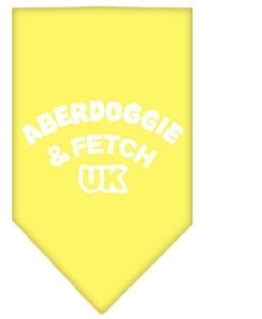 Aberdoggie UK Screen Print Bandana Yellow Small Case Pack 24 Aberdoggie UK Sc... by DSD