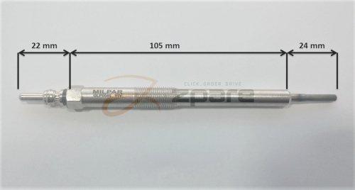 MILPAR Bujía de Incandescencia Actyon I 2.0 XDI/Actyon I 200 XDI 4 WD: Amazon.es: Coche y moto