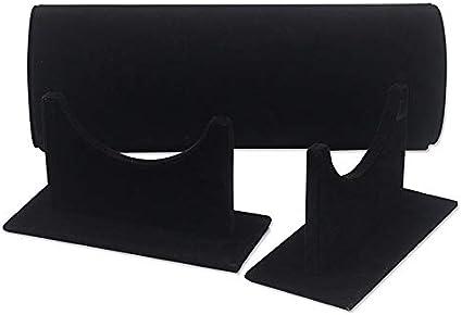 Naliovker Diadema de Terciopelo Desmontable Aro de Pelo Estante del Soporte de Exhibici/óN del Cierre del Pelo Barra de Almacenamiento de Organizador de Diadema de 36 Cm Negro