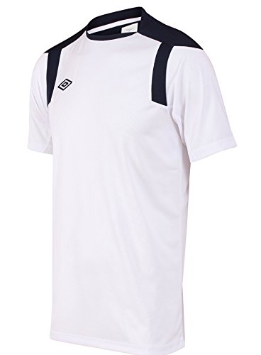 Umbro Men's Football Soccer Polyetser Training Tee X-Large White / - Soccer Umbro T-shirt