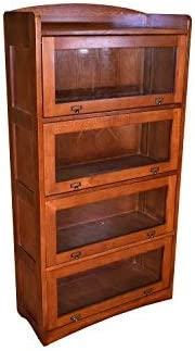 Crafters and Weavers Mission Craftsman Style Quarter Sawn Oak 4 Stack Barrister Bookcase