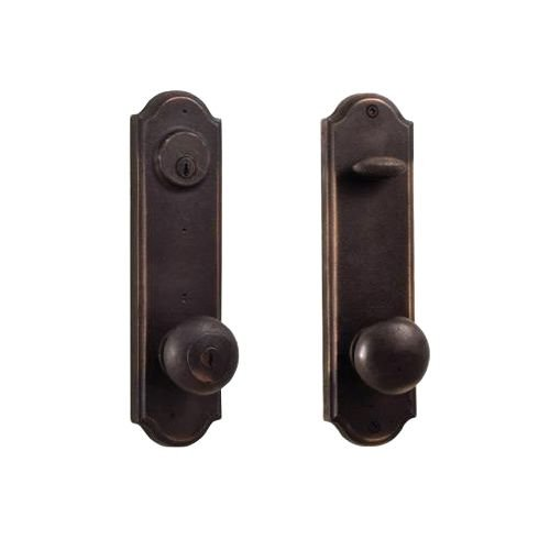 Weslock 7645F-LH Tramore Dummy Set with Left Handed Wexford Knobs, Oil Rubbed Bronze
