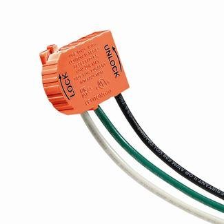 Isolated Ground Outlet (Leviton MSTWL-IG 20A-125V 2P3W Wiring Module for Lev-Lok Isolated Ground Receptacle - Orange)