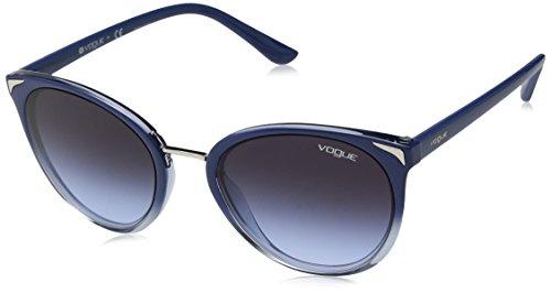 (VOGUE Women's 0vo5230s Oval Sunglasses, TOP BLUE GRADIENT TRANSPARENT, 54 mm)