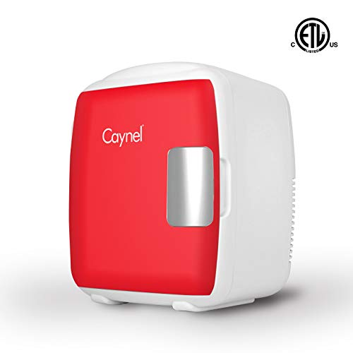 CAYNEL Thermoelectric Mini Fridge Cooler and Warmer - 9 Liter/12 Can - 100% Freon-Free & Eco Friendly for Home,Office, Car, Dorm or Boat AC & DC Power Cords ()