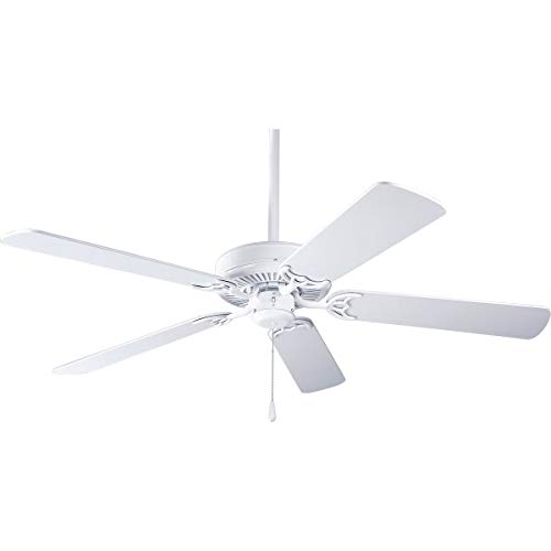 (Progress Lighting P2501-30W Utilitarian/Commodity Ceiling Fan 52 Inch 5 Blade 3 Speed White AirPro)
