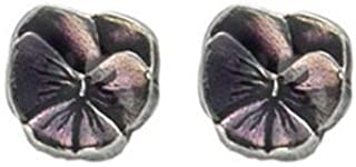 product image for DANFORTH - Pansy/Purple Mini Post Earrings - 3/8 Inch - Handcrafted - Pewter - Made in USA