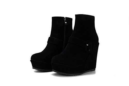Zipper Black Platform Buckle Frosted Boots Girls BalaMasa 6nAqBYtt