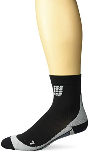 CEP Men's Dynamic+ Short Socks with Compression (Black/Grey) IV
