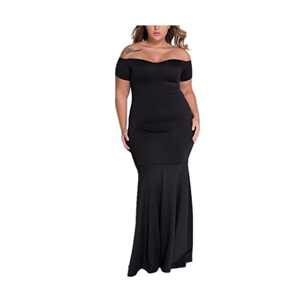 878b7a0e62c Foryingni Women s Plus Size Drop Shoulder Evening Long Formal Dress