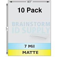 7 Mil Matte Full Sheet Laminates - 10 Pack
