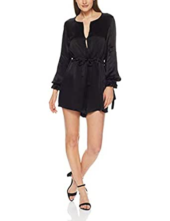 THIRD FORM Women's Intrigue Tied Playsuit, Black, X-Small