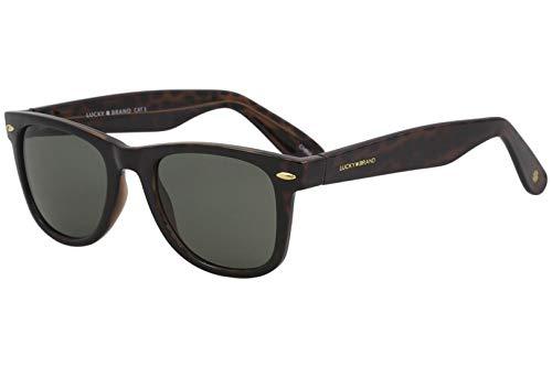 Lucky Camp Rectangular Sunglasses, Tortoise, 51 mm