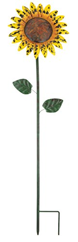 (Regal Art & Gift Sunflower Rustic Flower Stake, 46