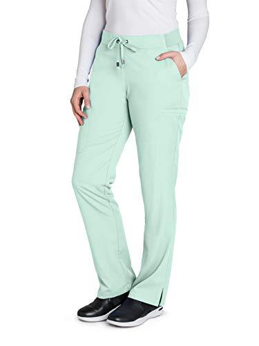 (Grey's Anatomy 4277 Straight Leg Pant Aqua Mist M)
